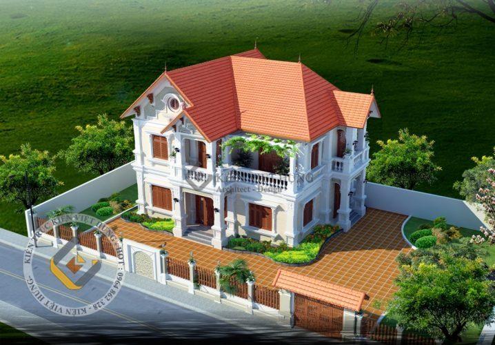 thiết kế biệt thự ở Sơn La đẹp sang trọng