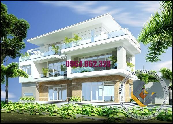 biệt thự mái bằng 3 tầng 1