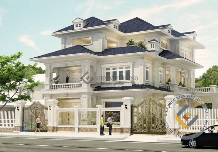 Thiết kế biệt thự ở Hà Nội đẹp lộng lẫy