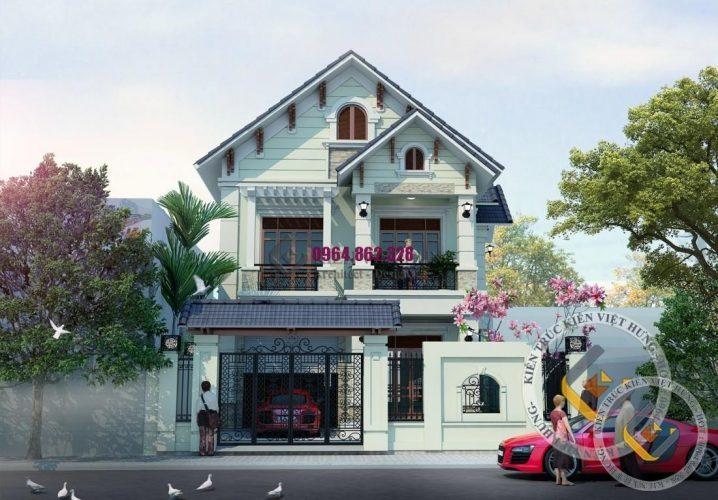 thiết kế biệt thự ở Thanh Hóa nhà phố mới lạ