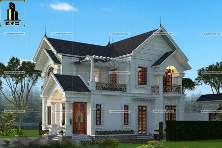 thiết kế biệt thự ở Hưng Yên xa hoa